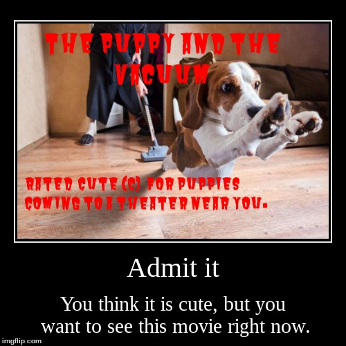 Admit it | You think it is cute, but you want to see this movie right now. | image tagged in funny,demotivationals | made w/ Imgflip demotivational maker