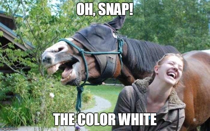 OH, SNAP! THE COLOR WHITE | made w/ Imgflip meme maker