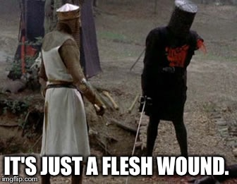 IT'S JUST A FLESH WOUND. | made w/ Imgflip meme maker