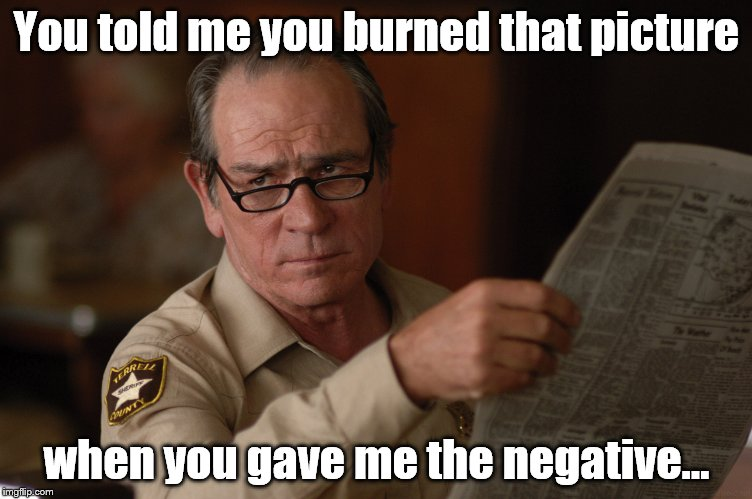 say what? | You told me you burned that picture when you gave me the negative... | image tagged in say what | made w/ Imgflip meme maker