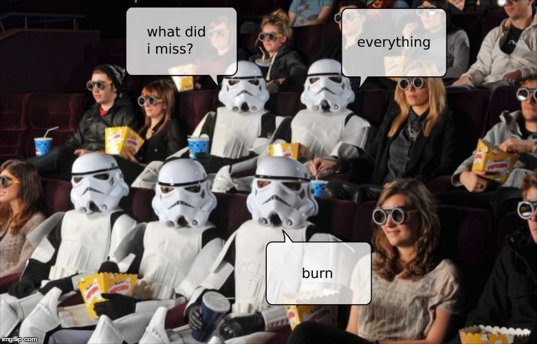 image tagged in star wars,stormtroopers | made w/ Imgflip meme maker
