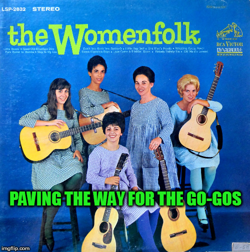 Bad Album Art Week ( Starting today Thursday the 19th until Wednesday the 25th of next week) A KenJ Shabbyrose2 Event | PAVING THE WAY FOR THE GO-GOS | image tagged in bad album art week,gogos | made w/ Imgflip meme maker