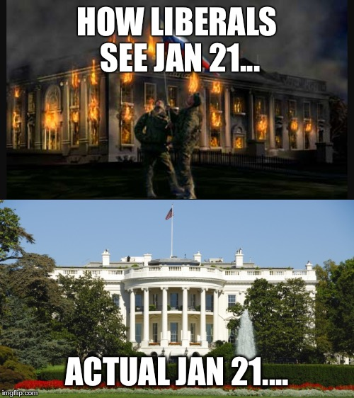 HOW LIBERALS SEE JAN 21... ACTUAL JAN 21.... | image tagged in donald trump | made w/ Imgflip meme maker