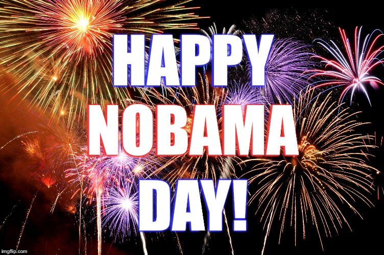 HAPPY DAY! NOBAMA | image tagged in celebrate | made w/ Imgflip meme maker