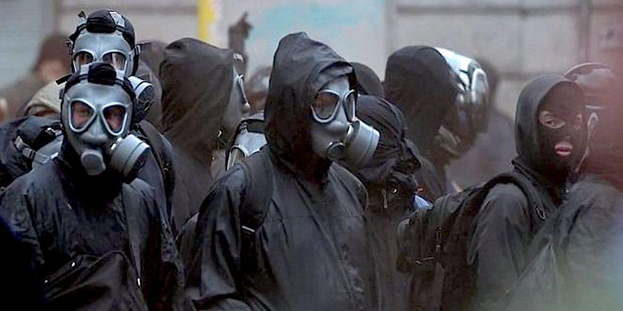 Gas mask protestors Blank Template - Imgflip