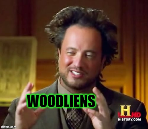 Ancient Aliens Meme | WOODLIENS | image tagged in memes,ancient aliens | made w/ Imgflip meme maker