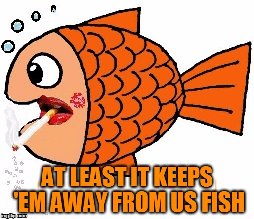 AT LEAST IT KEEPS 'EM AWAY FROM US FISH | made w/ Imgflip meme maker