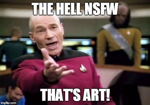 Picard Wtf Meme | THE HELL NSFW THAT'S ART! | image tagged in memes,picard wtf | made w/ Imgflip meme maker