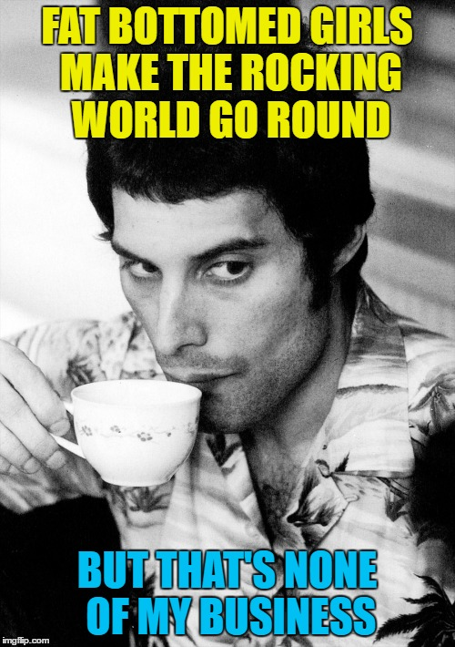 FAT BOTTOMED GIRLS MAKE THE ROCKING WORLD GO ROUND BUT THAT'S NONE OF MY BUSINESS | made w/ Imgflip meme maker