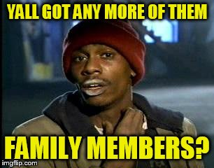 Y'all Got Any More Of That Meme | YALL GOT ANY MORE OF THEM FAMILY MEMBERS? | image tagged in memes,yall got any more of | made w/ Imgflip meme maker