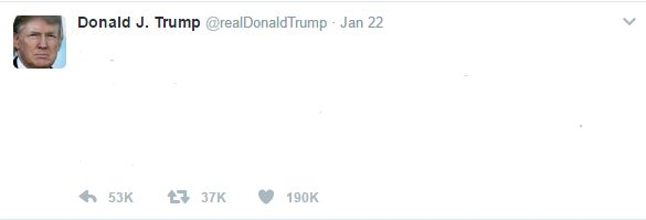 Trump Tweet Blank Template - Imgflip