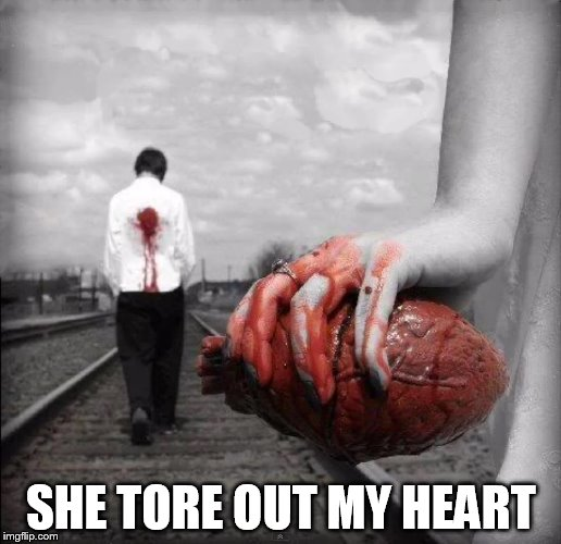 SHE TORE OUT MY HEART | made w/ Imgflip meme maker