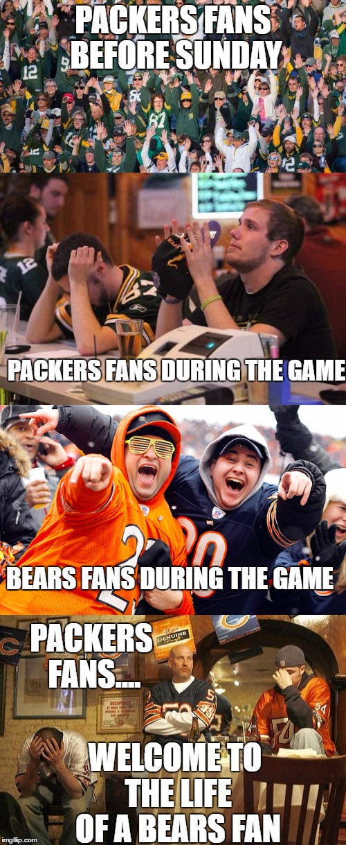 Bears Fans During Playoffs Watching The Packers Imgflip