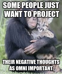 friends | SOME PEOPLE JUST WANT TO PROJECT THEIR NEGATIVE THOUGHTS AS OMNI IMPORTANT. | image tagged in friends | made w/ Imgflip meme maker