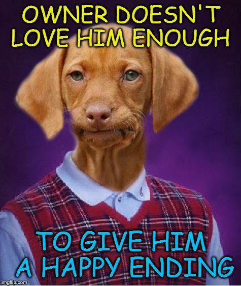 OWNER DOESN'T LOVE HIM ENOUGH TO GIVE HIM A HAPPY ENDING | made w/ Imgflip meme maker