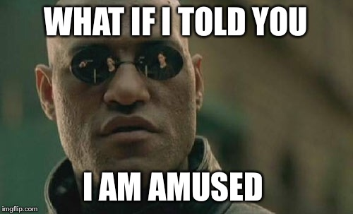 Matrix Morpheus Meme | WHAT IF I TOLD YOU I AM AMUSED | image tagged in memes,matrix morpheus | made w/ Imgflip meme maker