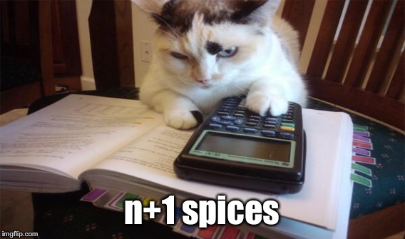 n+1 spices | made w/ Imgflip meme maker