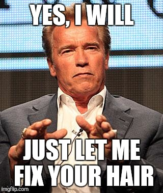 YES, I WILL JUST LET ME FIX YOUR HAIR | made w/ Imgflip meme maker