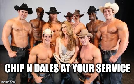 CHIP N DALES AT YOUR SERVICE | made w/ Imgflip meme maker