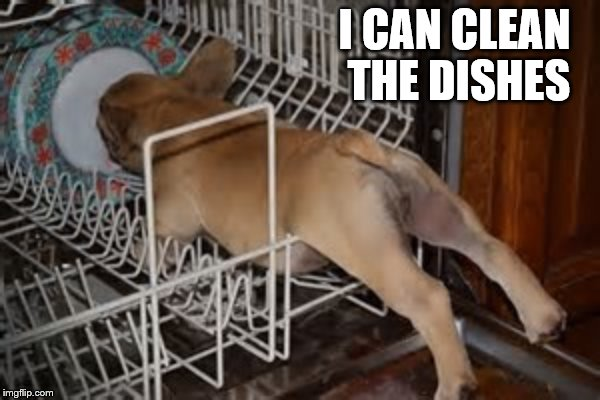I CAN CLEAN THE DISHES | made w/ Imgflip meme maker