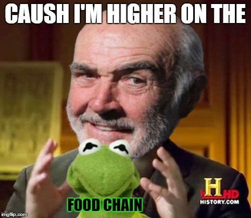 CAUSH I'M HIGHER ON THE FOOD CHAIN | made w/ Imgflip meme maker