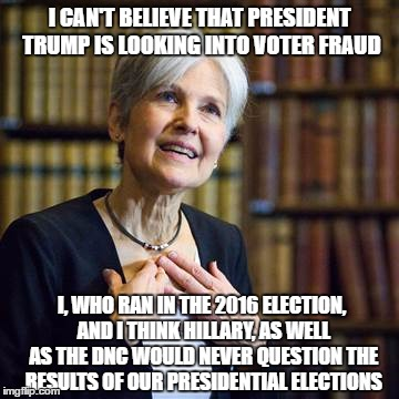 1icqe6 jill stein comments on president trump's decision to look into voter