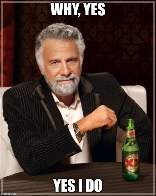 The Most Interesting Man In The World Meme | WHY, YES YES I DO | image tagged in memes,the most interesting man in the world | made w/ Imgflip meme maker