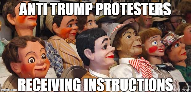 Resistance is futile | ANTI TRUMP PROTESTERS RECEIVING INSTRUCTIONS | image tagged in anti trump protest,politics,american politics | made w/ Imgflip meme maker
