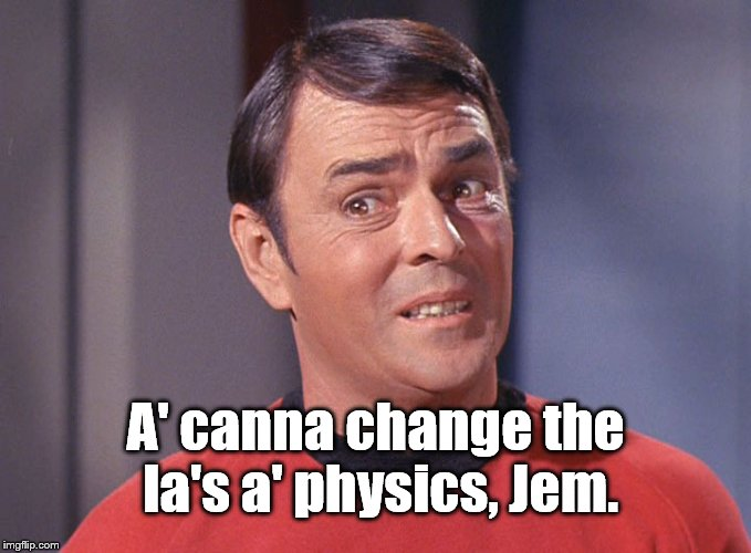 "James Doohan as Montgomery ""Scotty"" Scott  