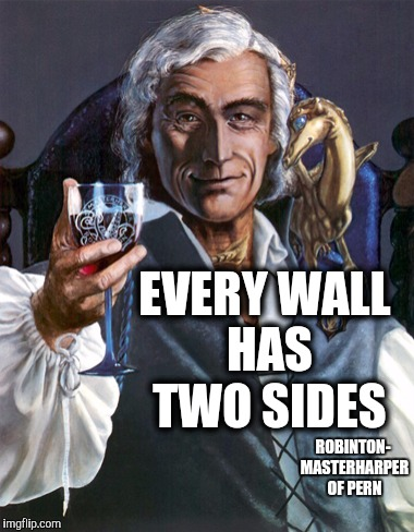 EVERY WALL HAS TWO SIDES ROBINTON- MASTERHARPER OF PERN | made w/ Imgflip meme maker