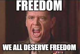 FREEDOM WE ALL DESERVE FREEDOM | made w/ Imgflip meme maker
