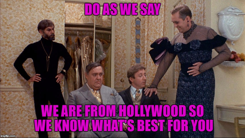 DO AS WE SAY WE ARE FROM HOLLYWOOD SO WE KNOW WHAT'S BEST FOR YOU | made w/ Imgflip meme maker