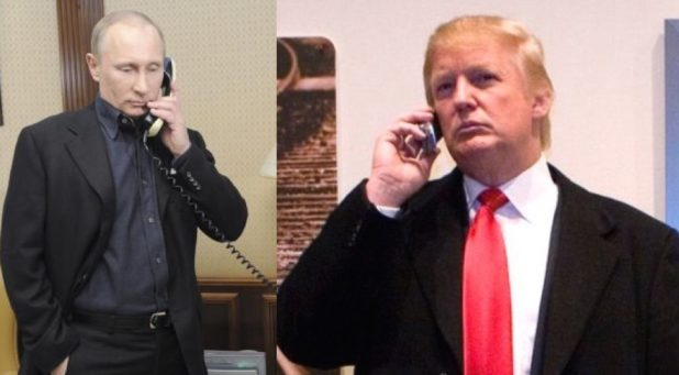 High Quality Trump Putin phone call Blank Meme Template