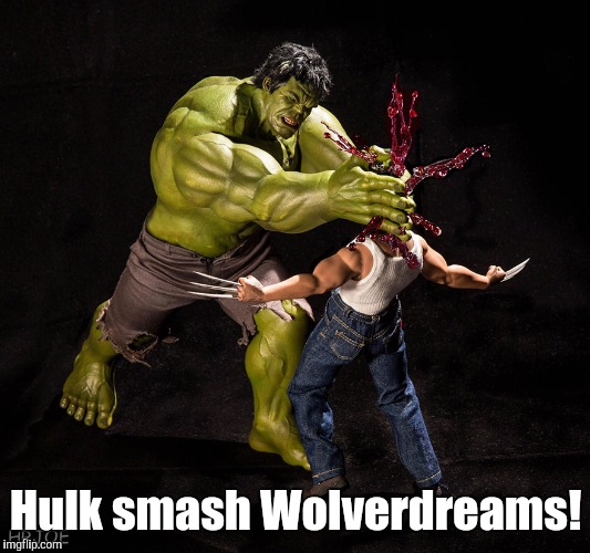 11mnor.jpg  | Hulk smash Wolverdreams! | image tagged in 11mnorjpg | made w/ Imgflip meme maker