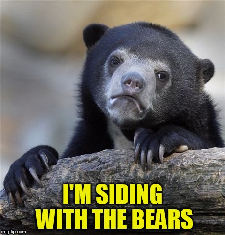 Confession Bear Meme | I'M SIDING WITH THE BEARS | image tagged in memes,confession bear | made w/ Imgflip meme maker