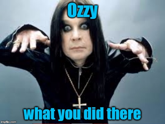 Ozzy what you did there | made w/ Imgflip meme maker