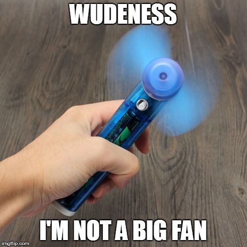 WUDENESS I'M NOT A BIG FAN | made w/ Imgflip meme maker
