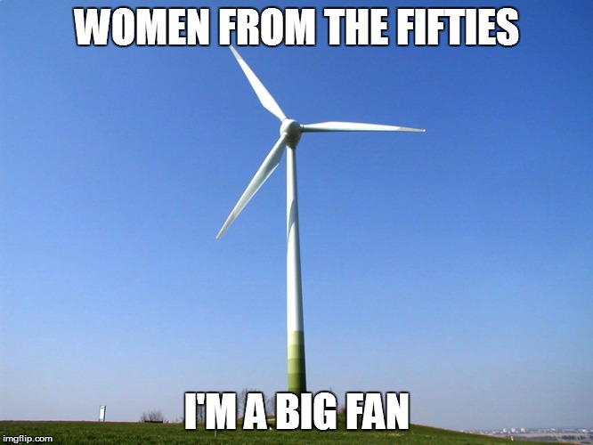WOMEN FROM THE FIFTIES I'M A BIG FAN | made w/ Imgflip meme maker