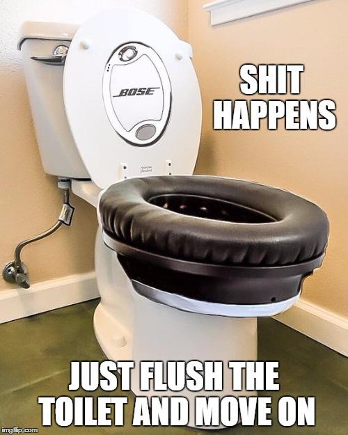 A noise cancelling toilet who would have thought imgflip for Bathroom noise maker