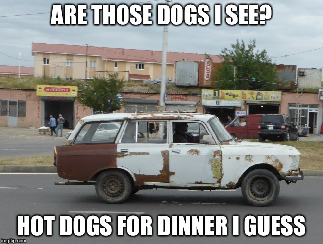 ARE THOSE DOGS I SEE? HOT DOGS FOR DINNER I GUESS | made w/ Imgflip meme maker