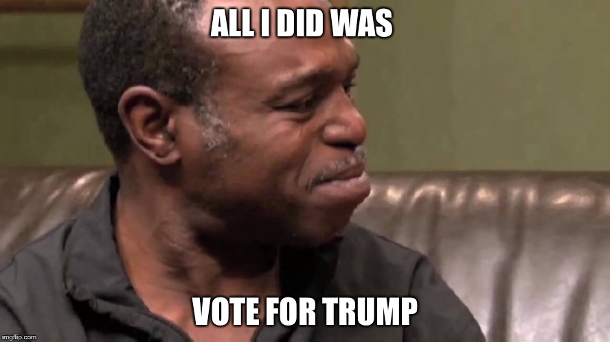 ALL I DID WAS VOTE FOR TRUMP | made w/ Imgflip meme maker