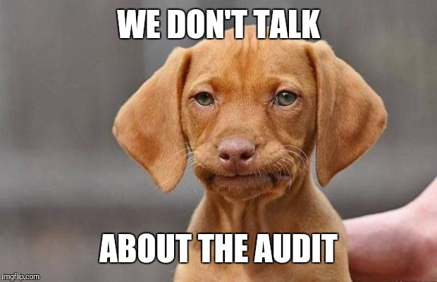 WE DON'T TALK ABOUT THE AUDIT | made w/ Imgflip meme maker