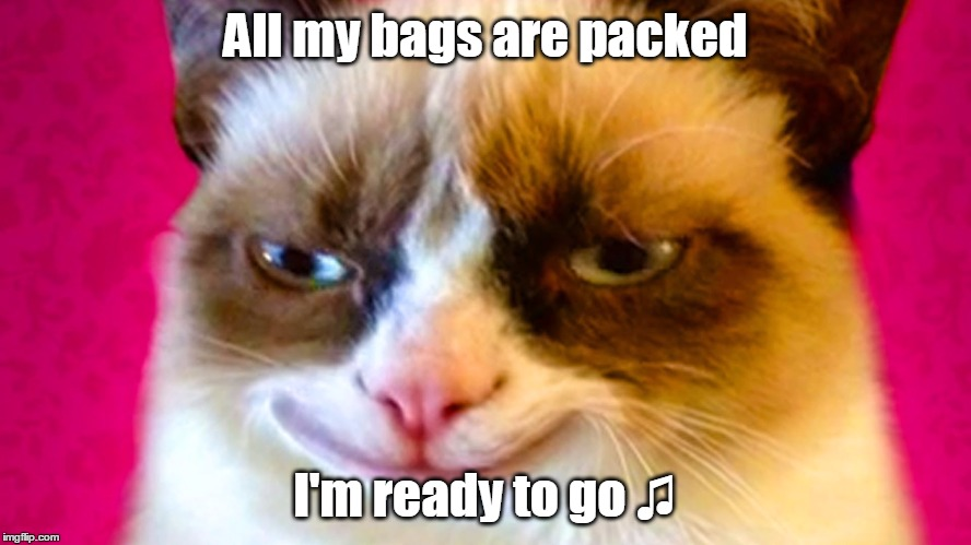 All my bags are packed I'm ready to go ♫ | made w/ Imgflip meme maker