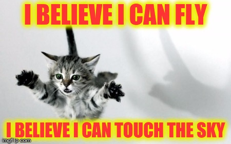 I BELIEVE I CAN FLY I BELIEVE I CAN TOUCH THE SKY | made w/ Imgflip meme maker