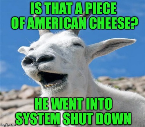 IS THAT A PIECE OF AMERICAN CHEESE? HE WENT INTO SYSTEM SHUT DOWN | made w/ Imgflip meme maker