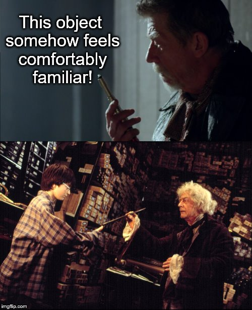 Sonic Wand. | This object somehow feels comfortably familiar! | image tagged in john hurt,doctor who,harry potter | made w/ Imgflip meme maker