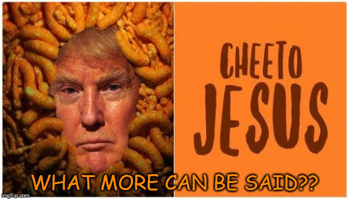 Image result for cheeto jesus