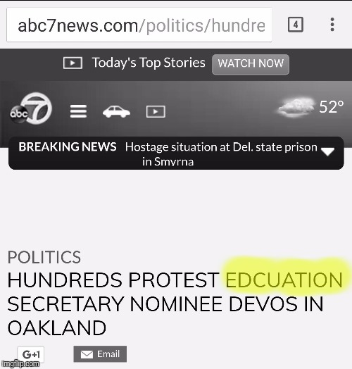 Ironic journalism at it's finest.... | image tagged in memes,msm,trump nominee,betsy devos | made w/ Imgflip meme maker