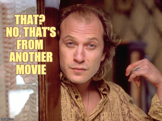 Buffalo Bill Invites You In,,, | THAT? NO, THAT'S FROM  ANOTHER    MOVIE | image tagged in buffalo bill invites you in | made w/ Imgflip meme maker