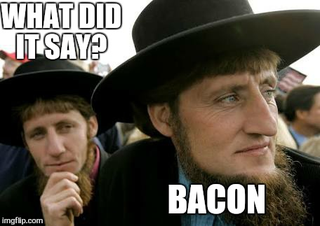 WHAT DID IT SAY? BACON | made w/ Imgflip meme maker